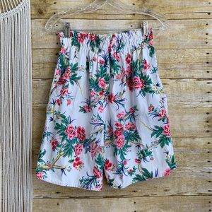 Vintage Tropical Hand Made High Waisted Shorts